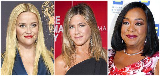 """Reese Witherspoon, Shonda Rhimes y Jennifer Aniston son algunas de los cientos de mujeres de Hollywood que formaron una coalición contra el acoso sexual, llamada """"Time's Up"""" (Ya es hora). AP"""