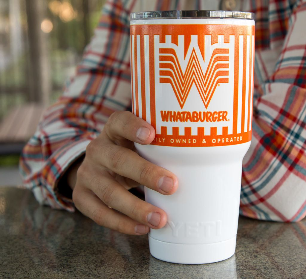 That's right: You can now own a Whataburger Yeti tumbler for $45.99.