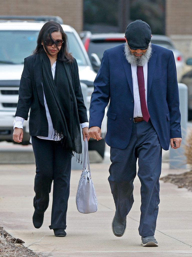 Mohommad Hasnain Ali and wife Sumaiya Ali arrived at U.S. District Court in Plano for their sentencing hearings on Feb. 13, 2018.