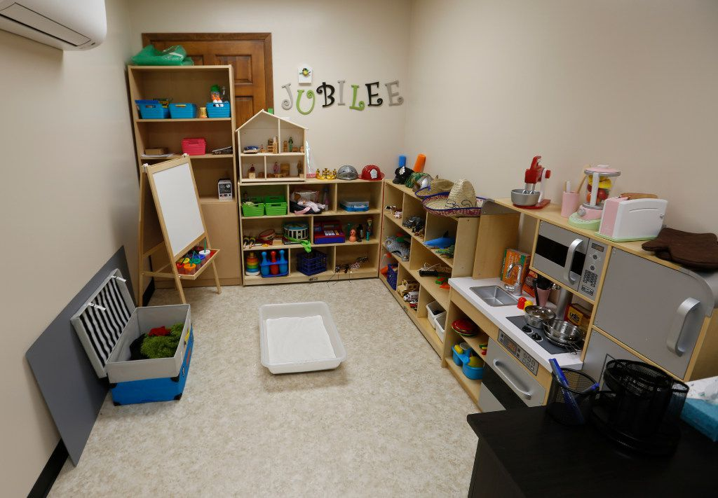 The Play Therapy Room will help serve the younger patients at Jubilee Park's new mental health facility, photographed Friday July 14, 2017. The room is where the kitchen used to be in The Old Church at Jubilee Park. (Ron Baselice/ The Dallas Morning News)