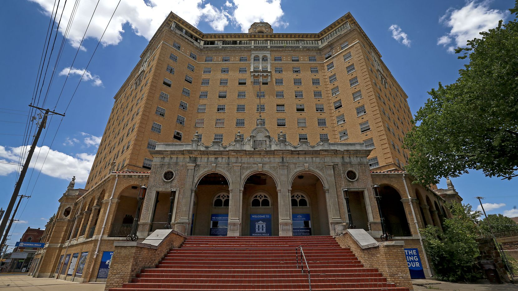 The Baker Hotel opened in 1929 and has been closed since the 1970s.