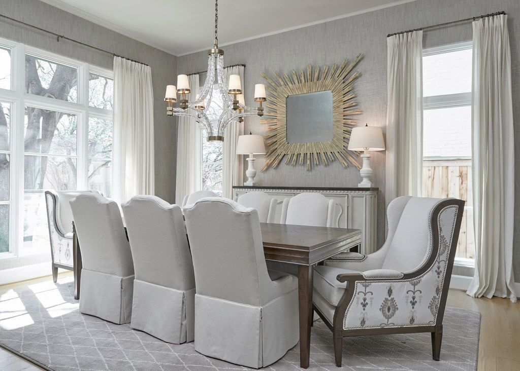 Comfort is key when it comes to keeping guests gathered around a table. Designer Emily Sheehan Hewett makes sure to outfit dining tables with comfortable seating.