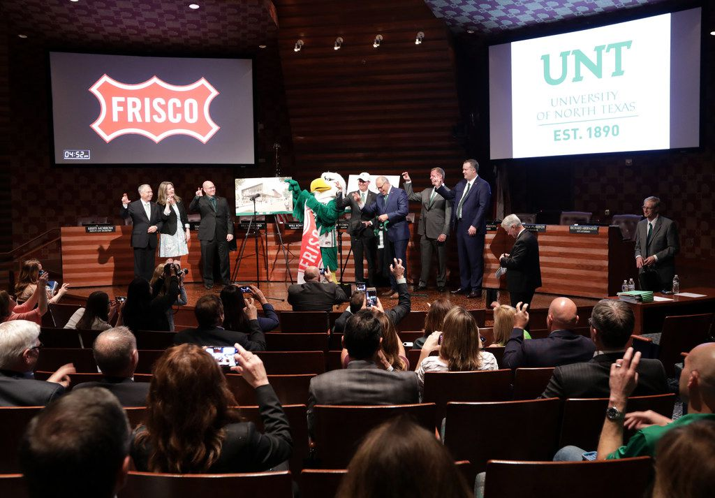 Frisco and University of North Texas officials announced plans Tuesday to build a new UNT branch in Frisco.