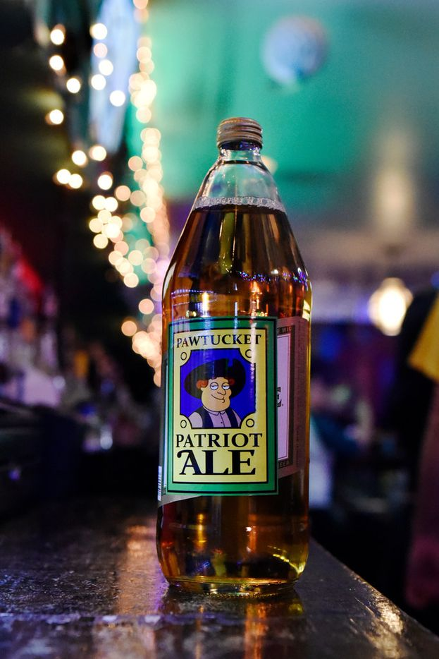 Peter's Pawtucket Patriot Ale 40 oz, served at the Drunken Clam, Thursday night Jan. 10, 2019 in Dallas. Drunken Clam is themed after the bar in Family Guy. Ben Torres/Special Contributor