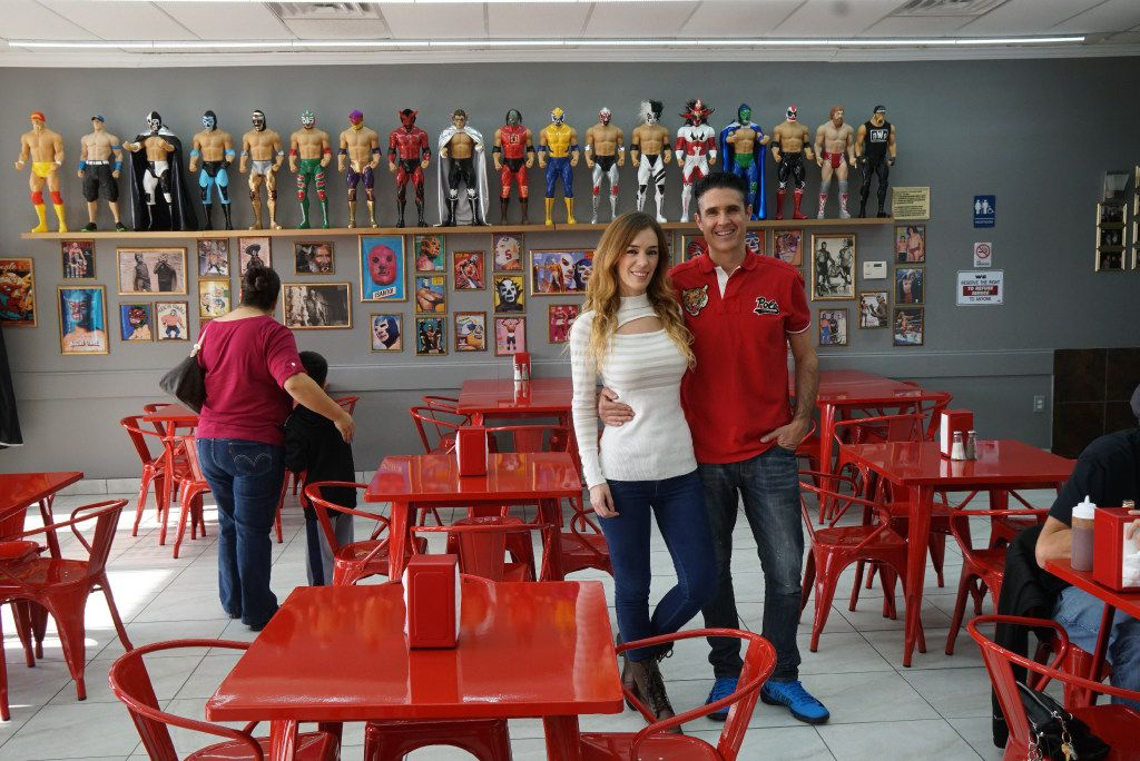 Owners Zulma Vanessa De Jimenez and Rodolfo Jimenez in  Maskaras Mexican Grill in Dallas, Texas on Friday, December 17, 2016. The owner Rodolfo Jimenez has been a collector since his childhood. Now he adorns the walls of his newly opened restaurant with some of his most prized pieces.