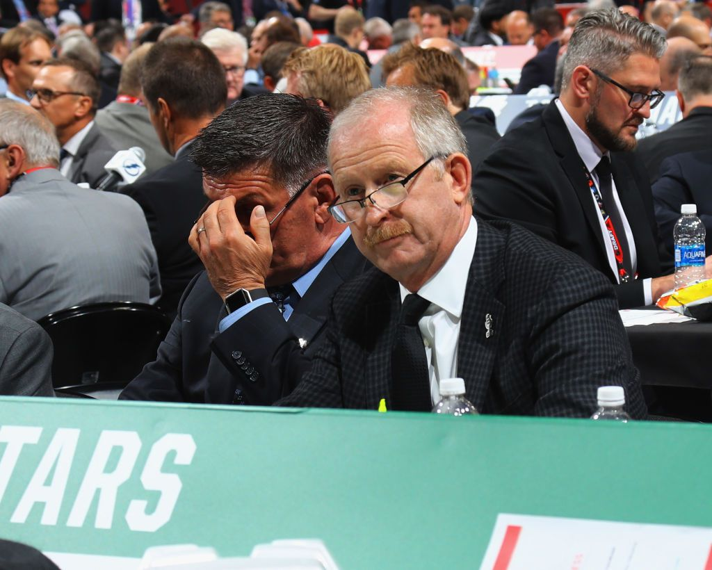 CHICAGO, IL - JUNE 24: Jim Nill of the Dallas Stars attends the 2017 NHL Draft at the United Center on June 24, 2017 in Chicago, Illinois.  (Photo by Bruce Bennett/Getty Images)