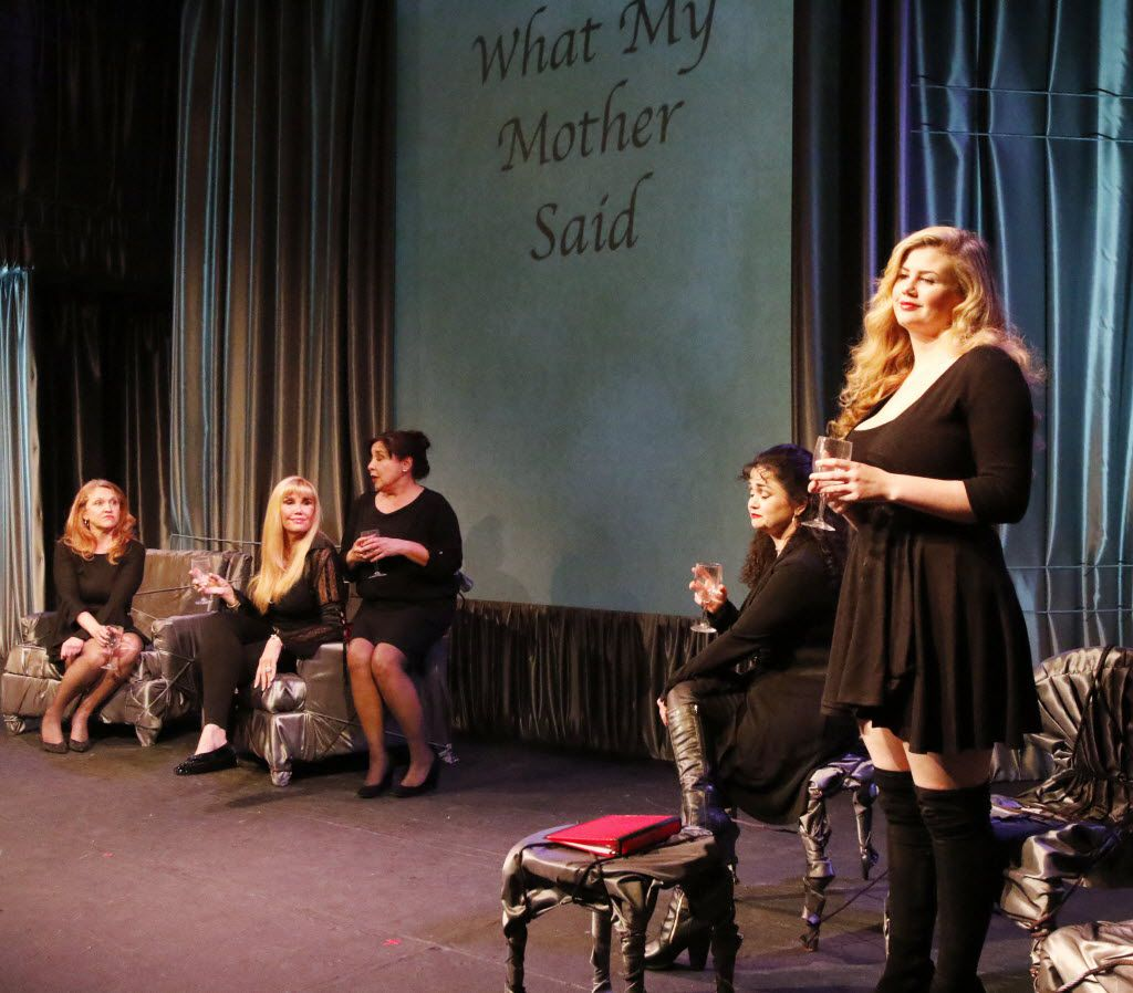 "Grace Loncar is standing on the right in ""Love, Loss, and What I Wore"" at Contemporary Theatre in Dallas, Texas on Wednesday, February 10, 2016."