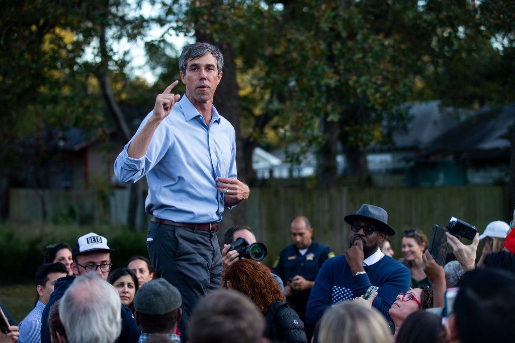 Beto O'Rourke campaigned at Opportunity Park in Dallas ahead of  his November Senate race.