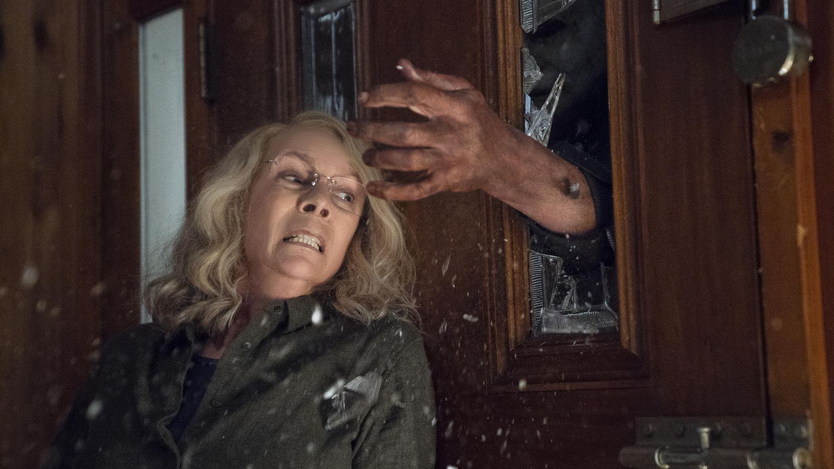 """Jamie Lee Curtis en una escena de la película de terror """"Halloween"""", que se estrenó este viernes.(Universal Pictures)"""