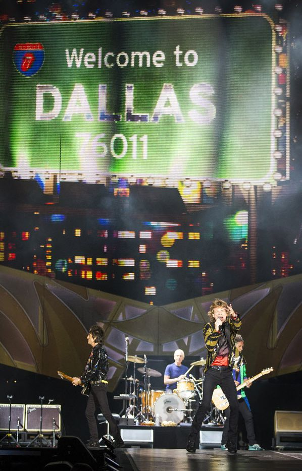 The Rolling Stones performed at AT&T Stadium as part of their Zip Code Tour of North America.
