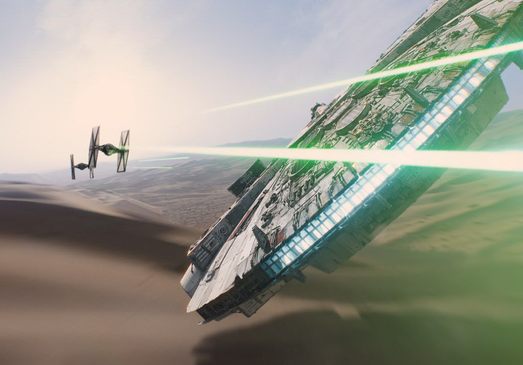 """In this image released by Disney, a scene is shown from the upcoming film, """"Star Wars: The Force Awakens,"""" expected in theaters on Dec. 18, 2015."""