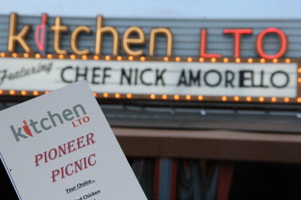 Chef Nick Amoriello and Kitchen LTO served up Pioneer Picnic on Sunday, July 3rd in Trinity Groves.  The menu included fried chicken, baby back ribs, blue cheese coleslaw, baked beans and potato salad for a classic Texas feast on the patio
