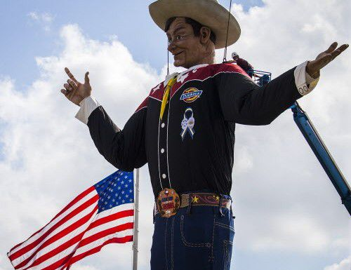 Big Tex./ (Smiley N. Pool/The Dallas Morning News)