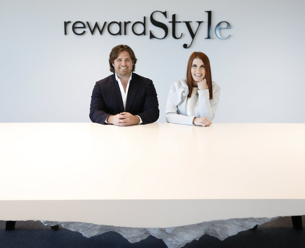 Baxter Box and Amber Venz Box, co-founders of rewardStyle, moved into new offices in the Centrum building in Dallas in 2016. RewardStyle is one of the most successful startups in recent Dallas history.