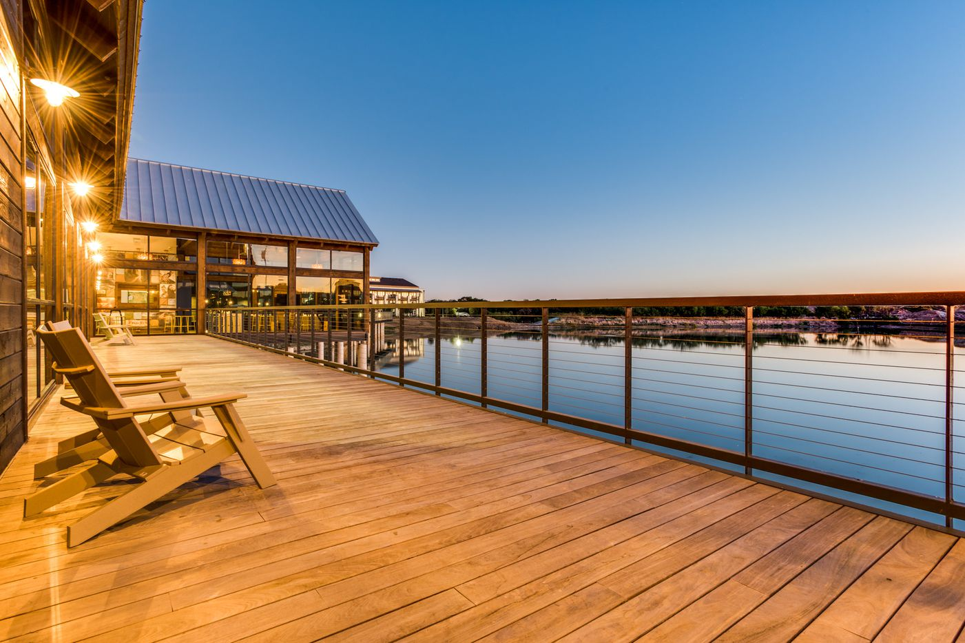 Billingsley Co.'s Boathouse apartments at Austin Ranch are built over a small lake.