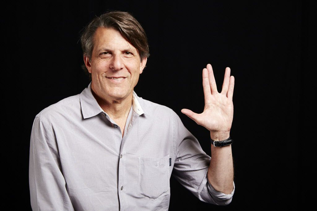 "In this June 29, 2015 photo, lawyer-turned-director Adam Nimoy, son of the late Star Trek actor Leonard Nimoy,  poses for a portrait in New York to promote his documentary about his father, ""For the Love of Spock."""