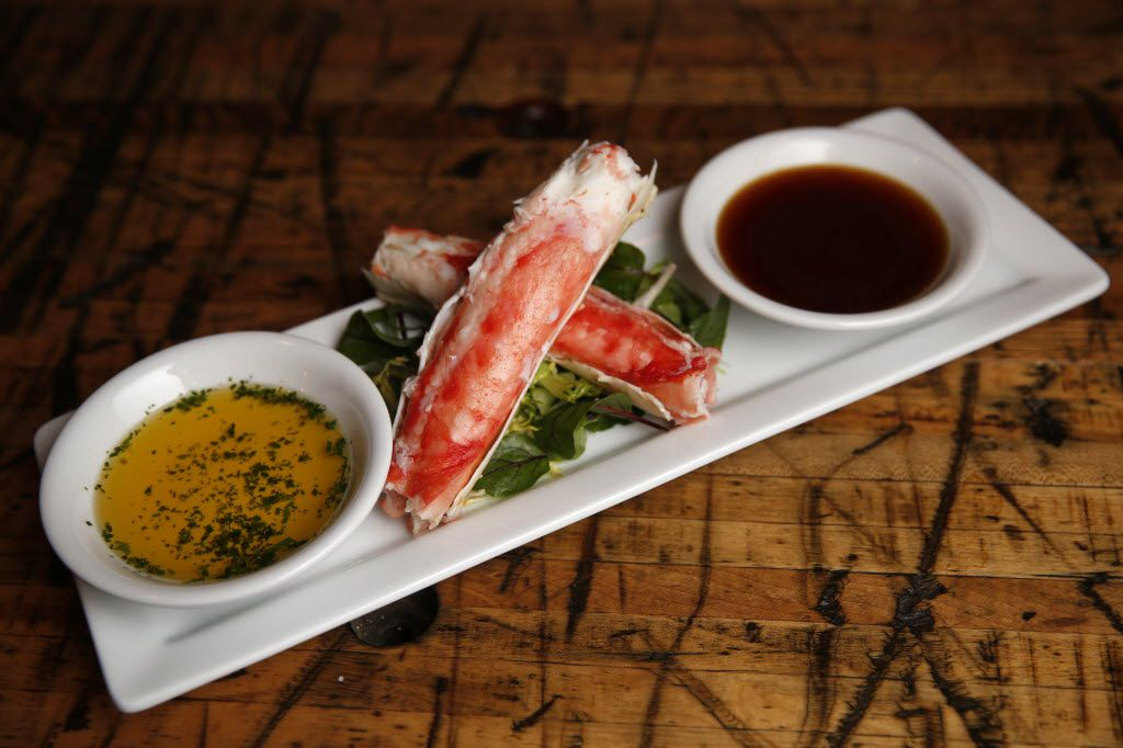 Alaska king crab with hot drawn butter and ponzu