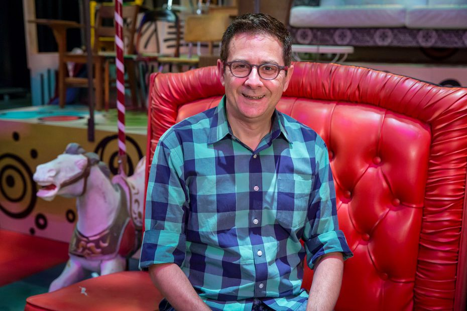 Dallas Theater Center artistic director Kevin Moriarty on the set of Hair, which he is directing.