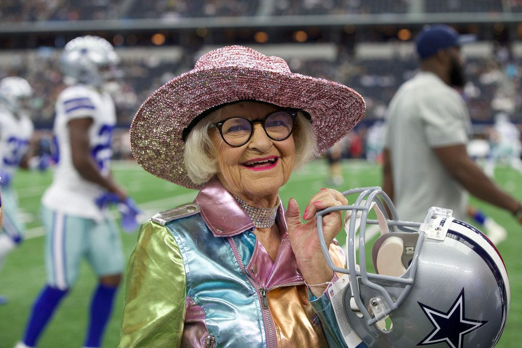 Baddie Winkle is an 89-year-old Instagram celebrity, who is crossing epic things off her bucket list. On Sunday, Oct. 8, Winkle attended the Dallas Cowboys versus Green Bay Packers football game in Dallas, Texas to check off one of her items. Hotels.com is sponsoring her journey.