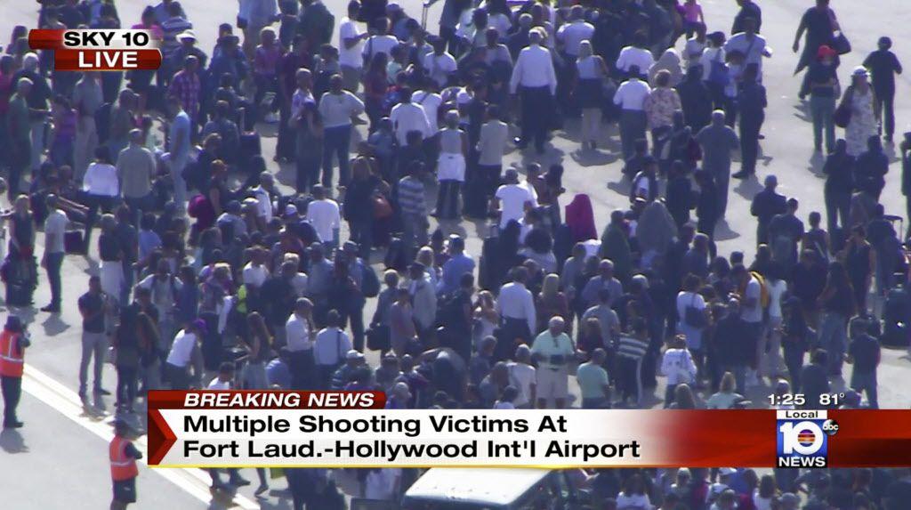 Video de NBC tras balacera en el aeropuerto de  Fort Lauderdale, Florida. AP
