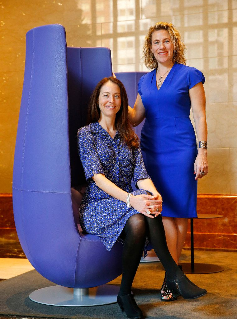 Sara Brand (left) and Kerry Rupp, the partners  behind Austin-based venture capital firm True Wealth Ventures, want to help close the gender gap by investing millions of dollars in women-led startups.