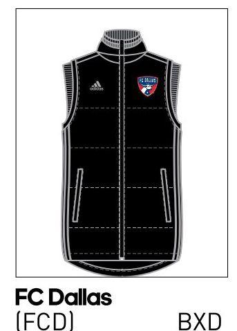 2016 FC Dallas padded vest.