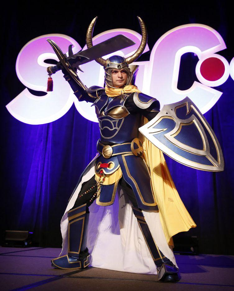 Abraham Montoya of McKinney dressed as Warrior of Light from Final Fantasy.