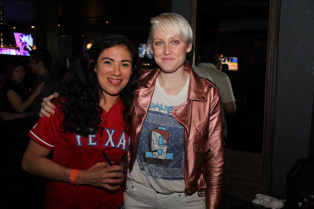 Rebecca Valdez and Sarah Jaffe at The Common Table on May 30, 2015.