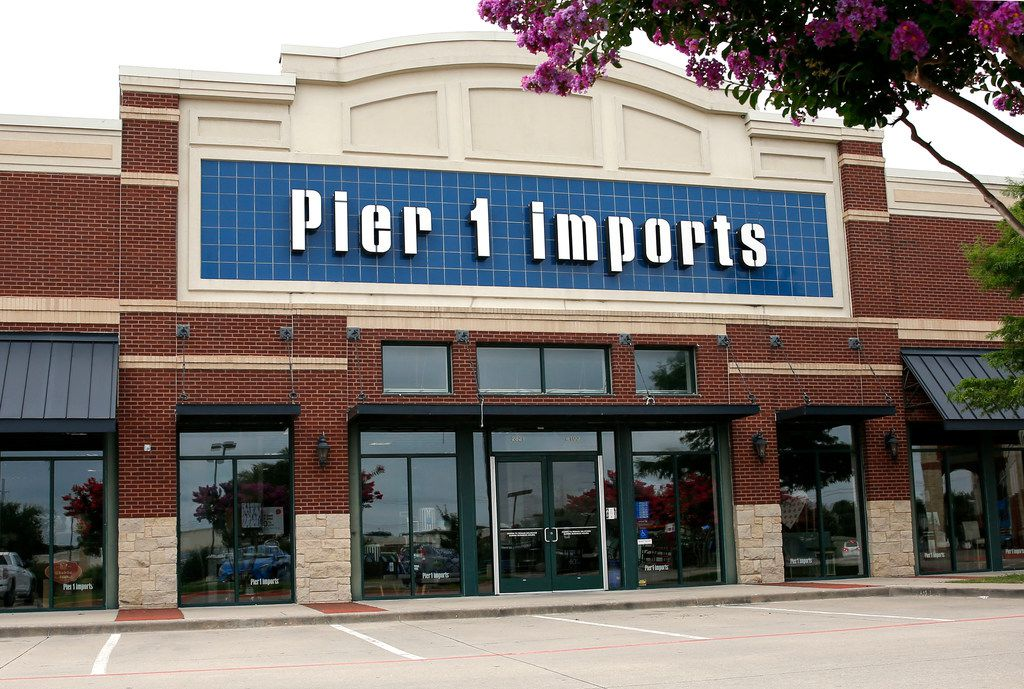 An exterior view of the Pier 1 Imports store on Central Expressway in McKinney.