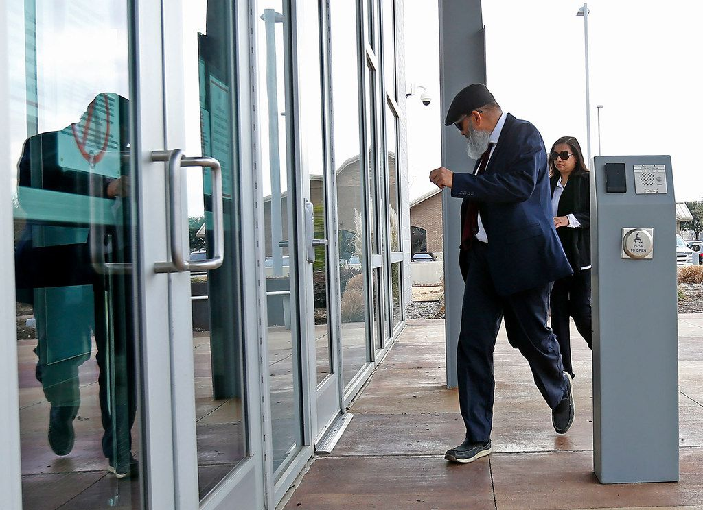 Mohommad Hasnain Ali and wife Sumaiya Ali arrived at U.S. District Court in Plano for their sentencing hearing on Feb. 13, 2018.