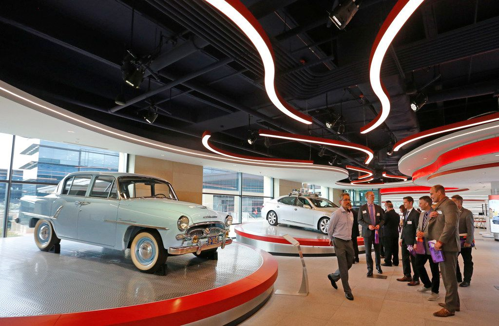Tours of the Toyota Experience exhibit were given after a panel discussion on STEM education and workforce development, held at Toyota North American Headquarters in Plano.
