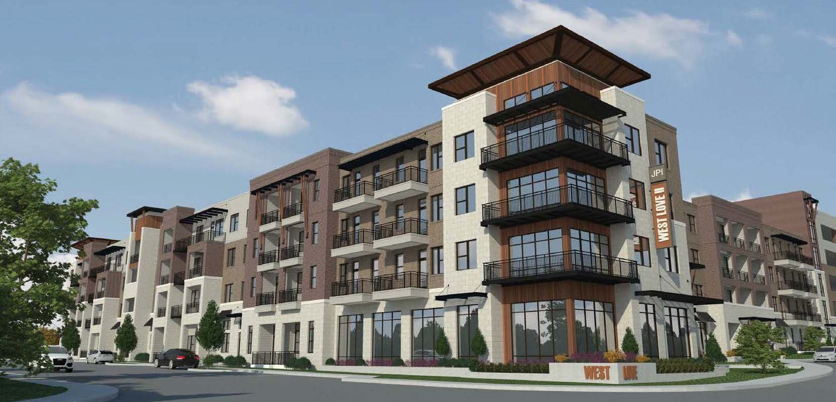 Irving-based JPI is building 354 more apartments in the West Love development near Dallas' Love Field.