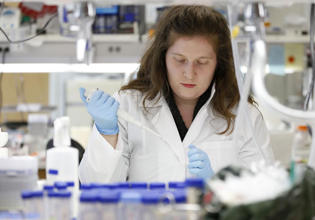 Rebecca Burgess, a post doctoral researcher, works in the Hamon Laboratory for Stem Cell and Cancer Biology at the Children's Medical Center Research Institute at UT Southwestern.
