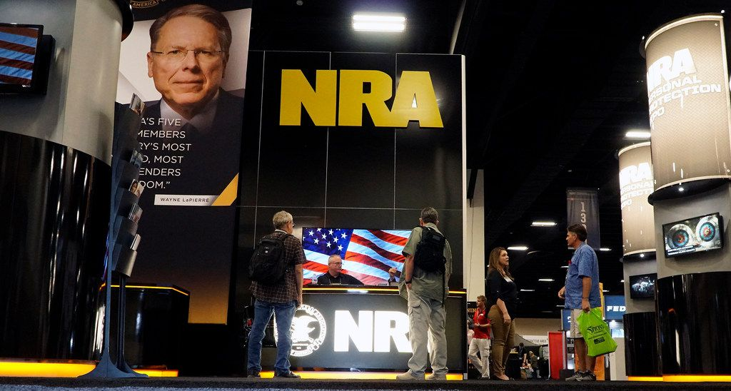 Gun lovers from all over came out to the NRA Personal Protection Expo at the Tarrant County Convention Center in Fort Worth, Texas on Friday, Sept. 6, 2019. The pro-gun group and its state affiliate have funneled more than $700,000 into state campaigns in Texas in the past 19 years, but some wonder whether gun control talks could lead it to invest even more.