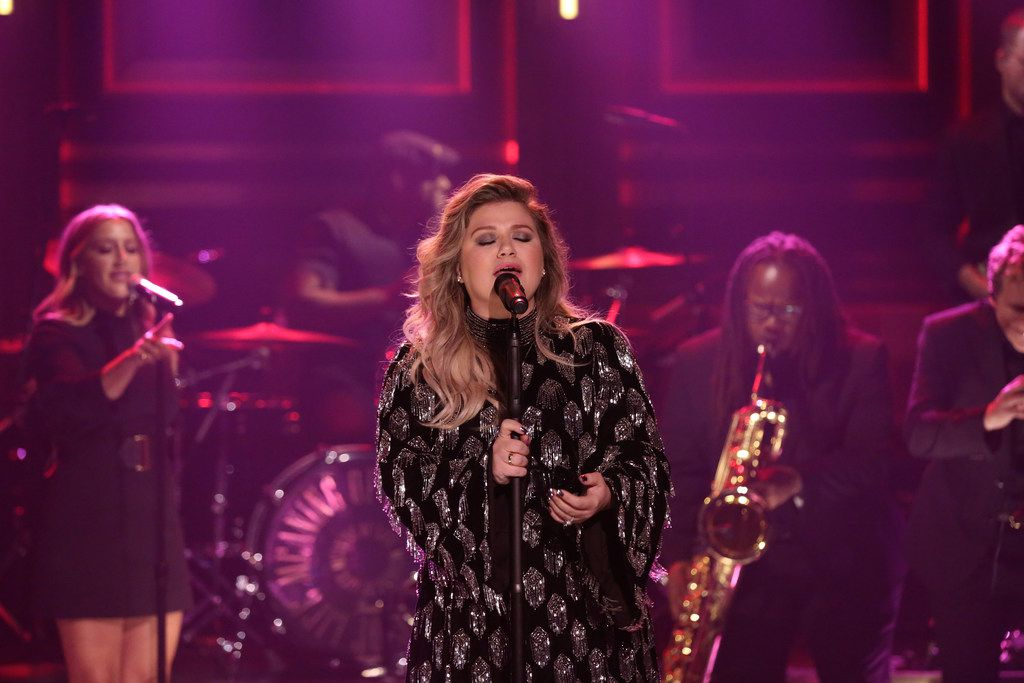 "Kelly Clarkson performed ""Whole Lotta Woman"" on Oct. 31, 2017 on ""The Tonight Show Starring Jimmy Fallon."""