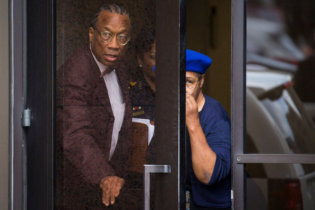 Dallas County Commissioner John Wiley Price departs the Earle Cabell Federal Building and Courthouse on Friday, April 21, 2017, in Dallas. The federal jury deciding the bribery and tax evasion cases against Price did not reach a verdict after its third day of deliberations Friday. (Smiley N. Pool/The Dallas Morning News)