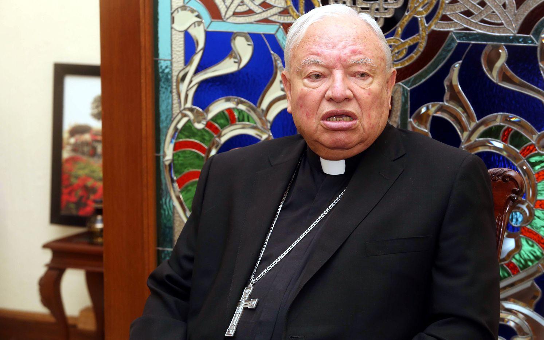 El cardenal de Guadalajara Juan Sandoval Íñiguez. AGENCIA REFORMA.