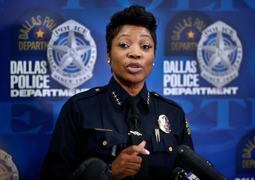 Dallas Police Chief U. Renee Hall updates the media on the death of Chynal Lindsey, a black transgender woman found in White Rock Lake.