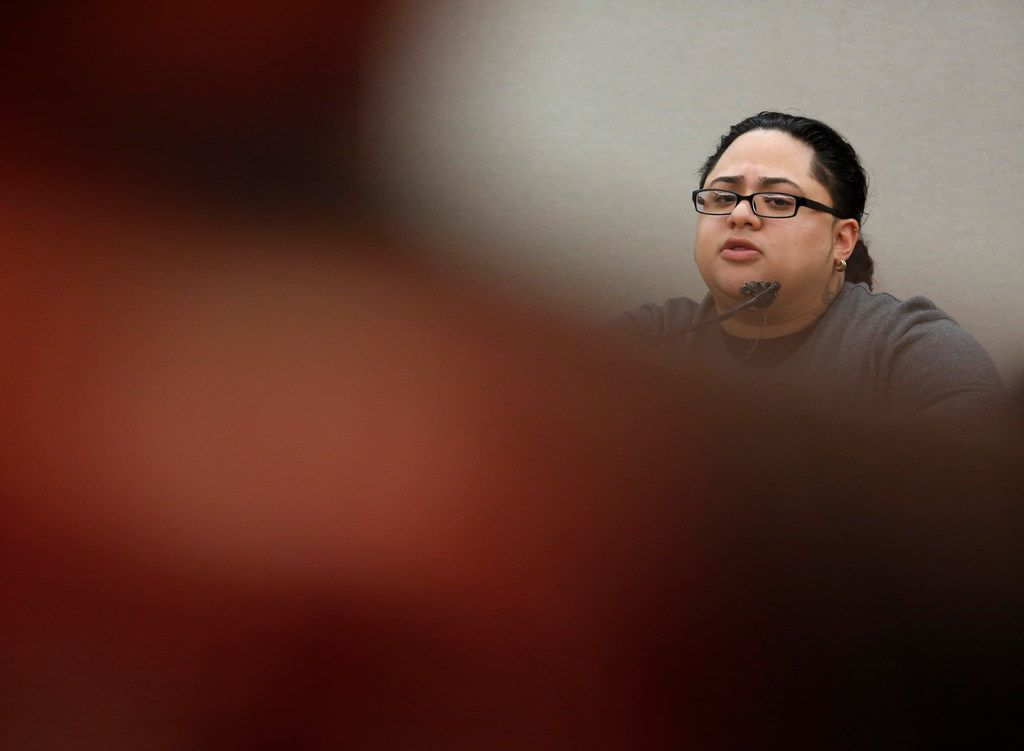 Monique Arredondo is cross-examined by defense attorney Miles Brissette about a traffic accident she and defendant Roy Oliver were involved in prior to the death of Jordan Edwards.