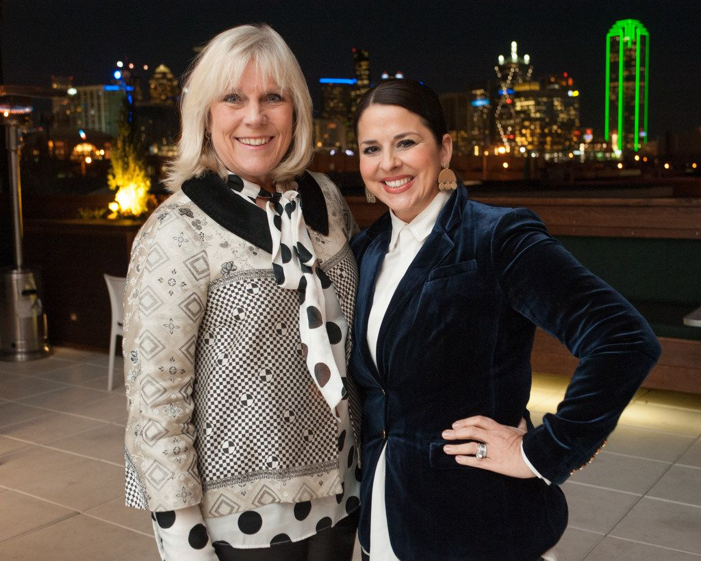 The Family Place CEO Paige Flink (left) and The Family Place vice president of development Melissa Sherrill Martin celebrated Partners Card 2017 at DEC on Dragon on Jan. 25.