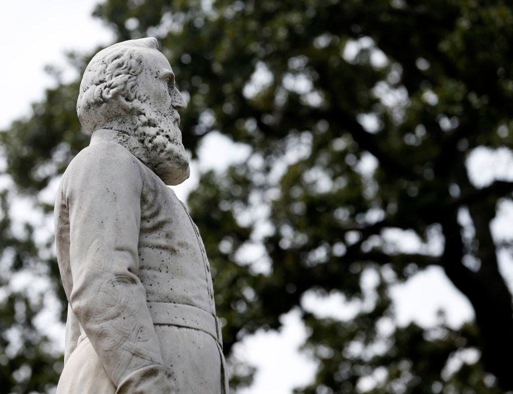 "A statue of Gen. Thomas ""Stonewall"" Jackson at the Confederate War Memorial in Dallas."