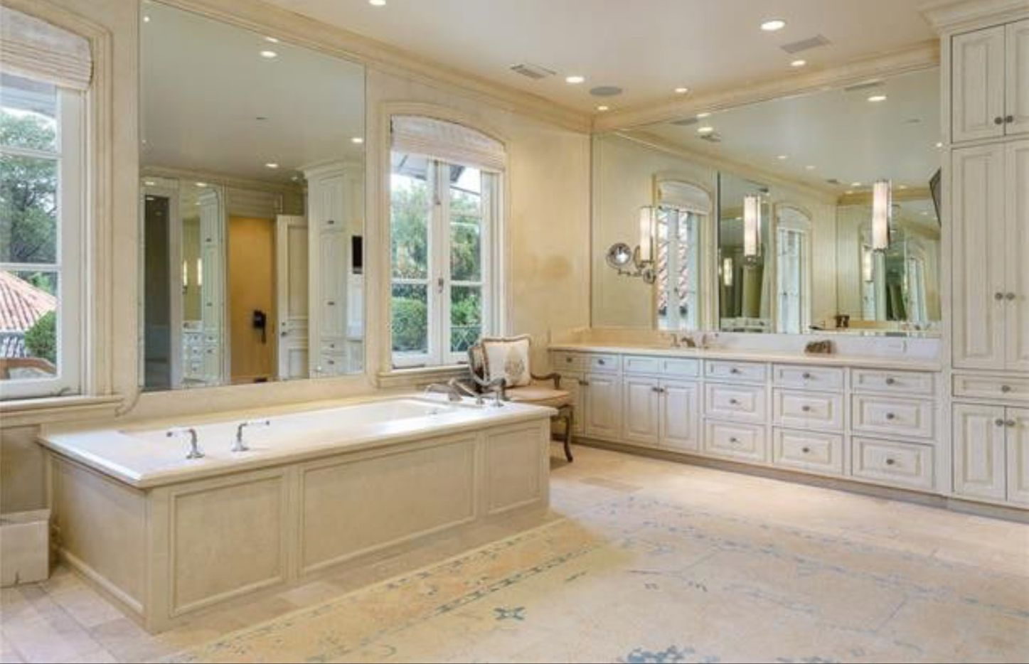 The bathroom in the Pickens mansion.