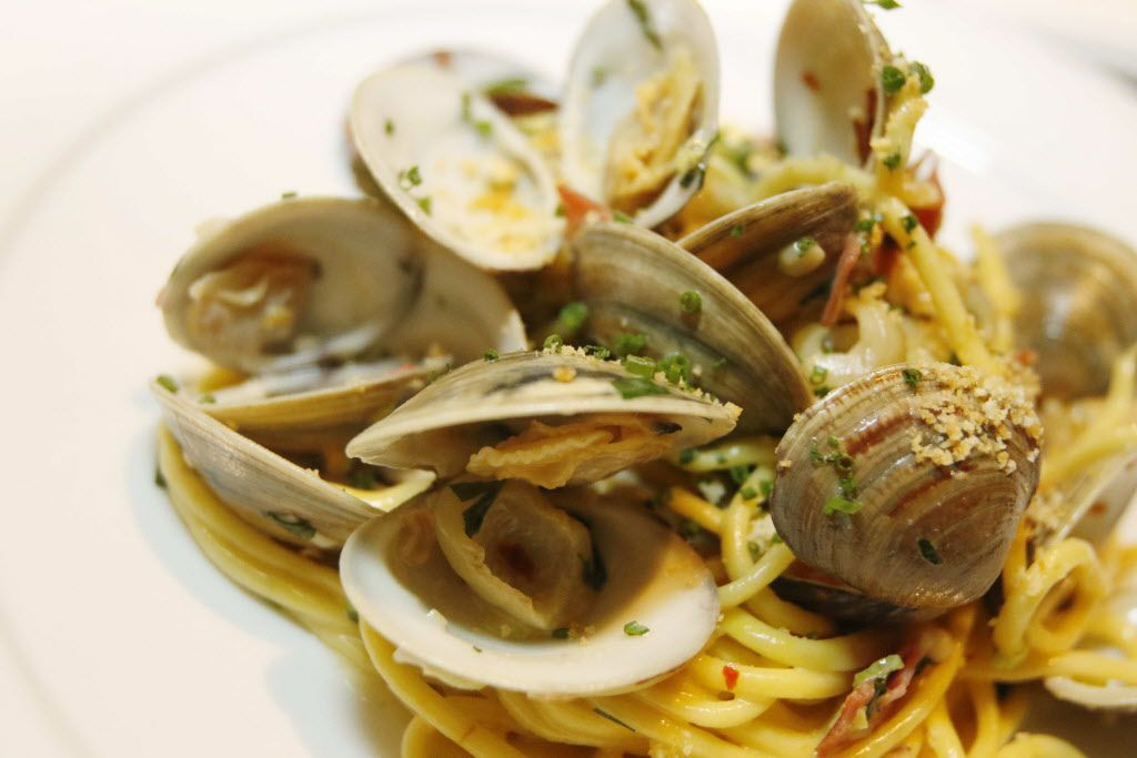 It has been eight years since Julian Barsotti opened his Highland Park Italian place, Nonna, an eternity in Dallas restaurant time. One reason for its enduring popularity is his outstanding handmade pastas -- such as spaghetti alla chittara with clams casino.