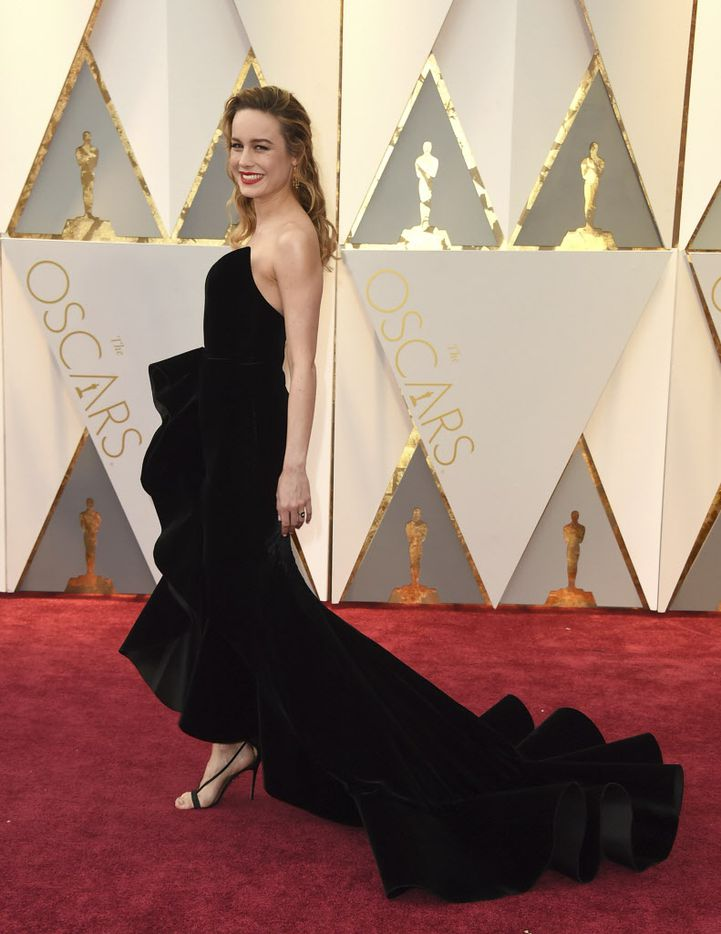 Brie Larson arrives at the Oscars on Sunday, Feb. 26, 2017, at the Dolby Theatre in Los Angeles. (Photo by Jordan Strauss/Invision/AP)