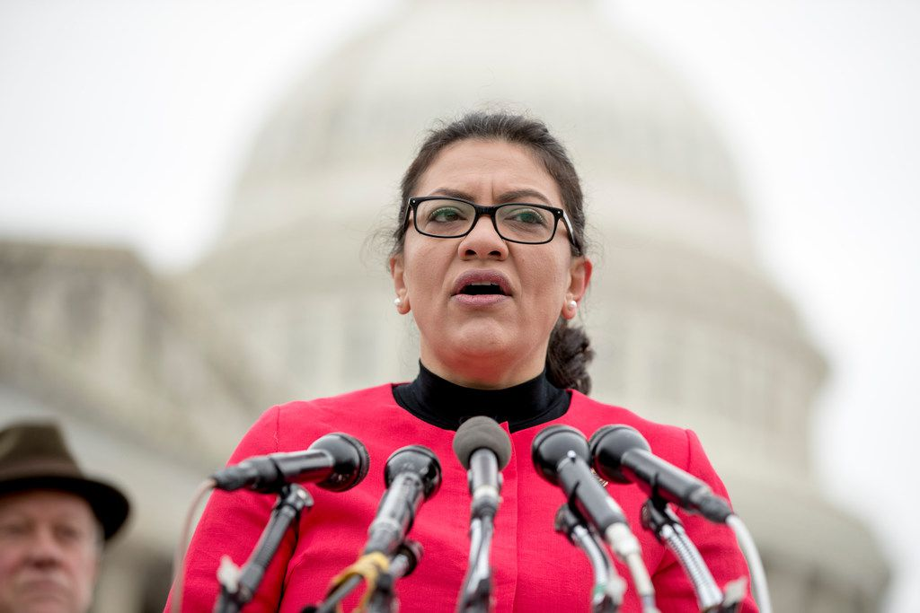 """Rep. Brian Babin, R-Woodville,  pushed Thursday to block Rep. Rashida Tlaib, D-Mich., from leading an official delegation to the West Bank. Tlaib spoke at a news conference on Capitol Hill the same day to unveil the """"Immediate Financial Relief for Federal Employees Act"""" bill which would give zero interest loans for up to $6,000 to employees impacted by the government shutdown and any future shutdowns."""