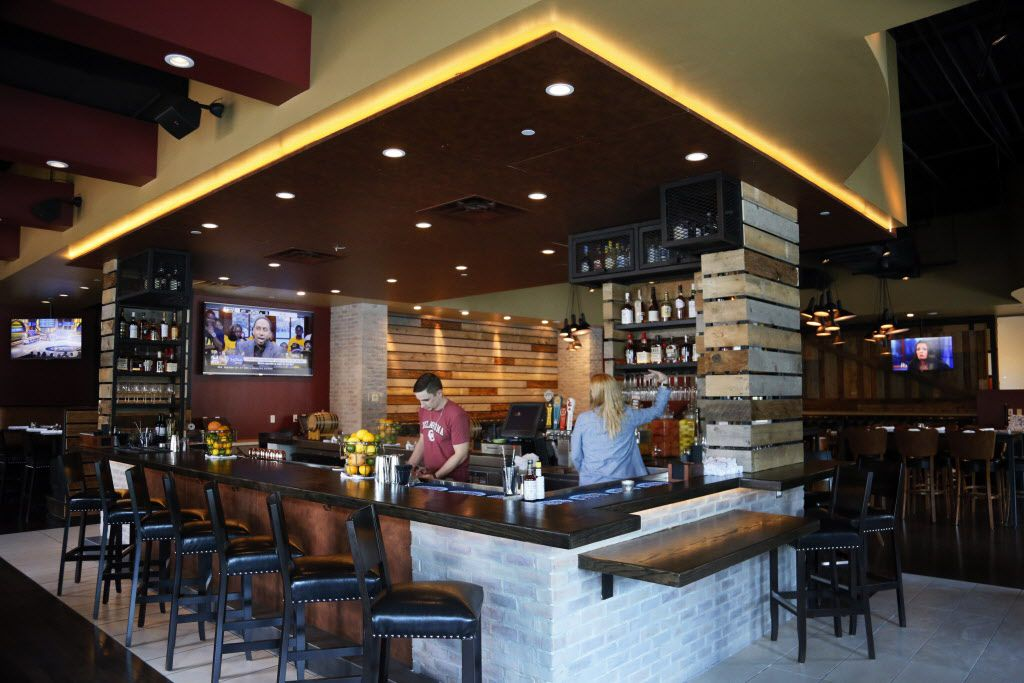 A bar view of Hickory by Kent Rathbun in Plano, TX on Thursday, June 4, 2015.