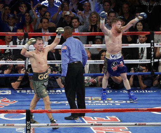 Gennady Golovkin y Saúl Àlvarez se enfrentarán en mayo de 2018 en Las Vegas. Foto AP
