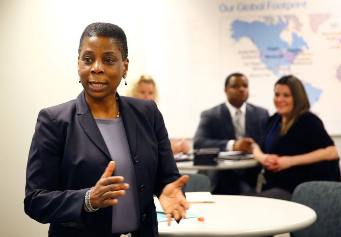 Employees at Xerox's Lewisville call center gave CEO Ursula Burns a warm welcome during a visit in February.