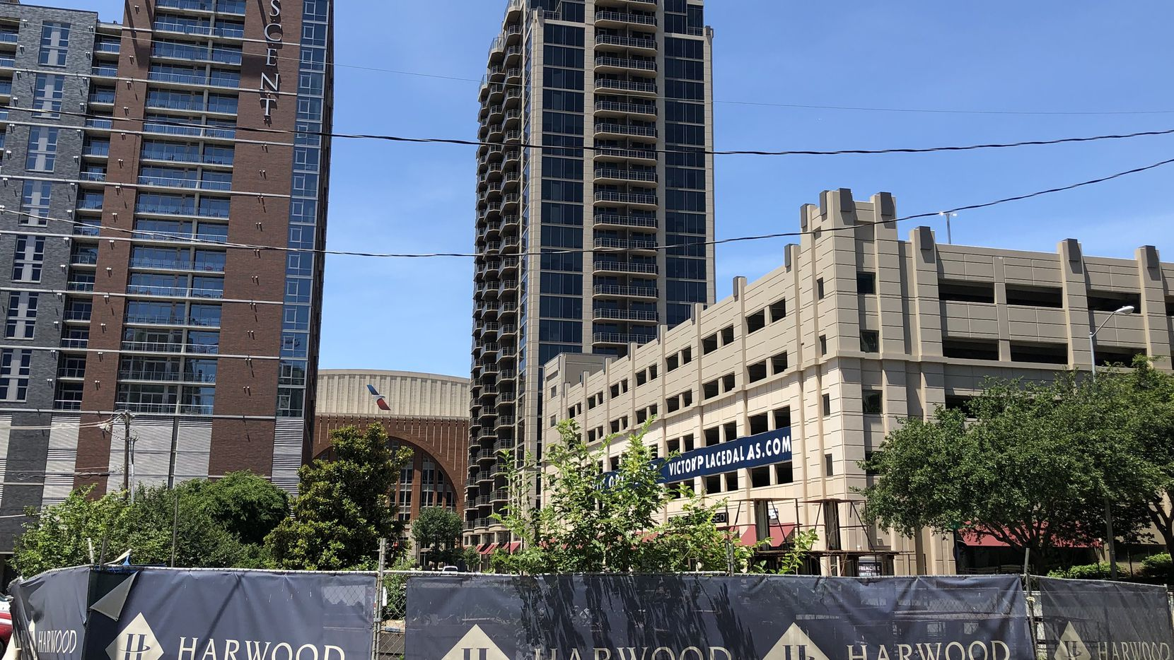 Developer Harwood International is planning a 40-story skyscraper for the site next door to Victory Park.