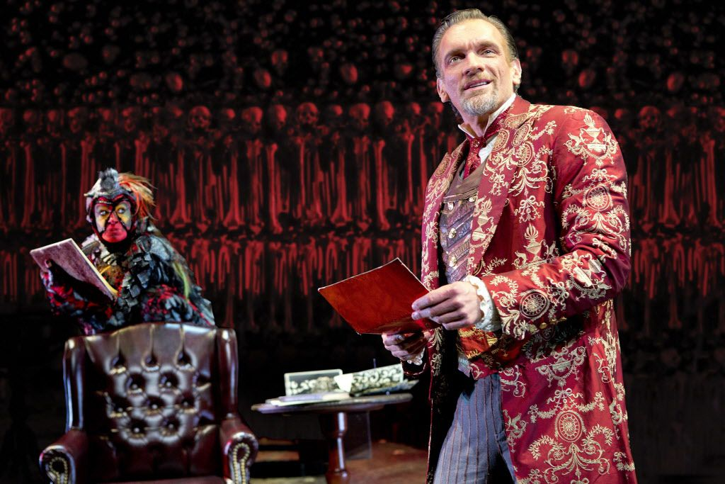 """Brent Harris portraying the titular demon in """"The Screwtape Letters."""""""